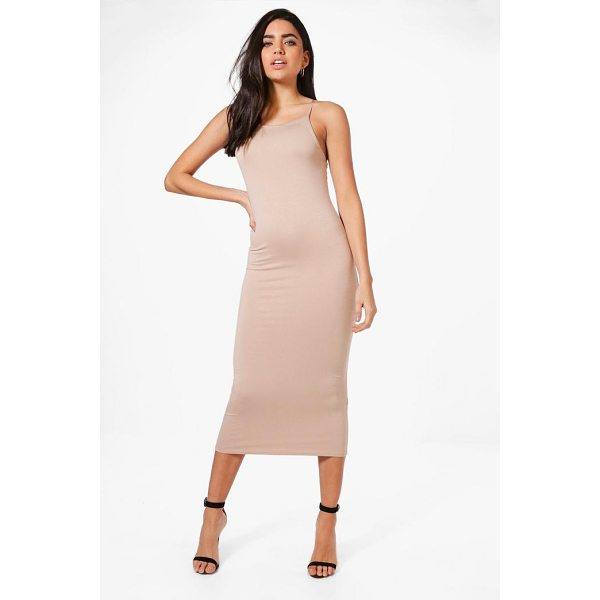 BOOHOO Sophie Strappy Bodycon Midaxi Dress - Dresses are the most-wanted wardrobe item for day-to-night...