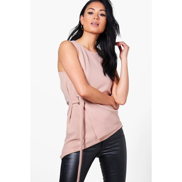 BOOHOO Sophie Wrap Front D Ring Top - Steal the style top spot in a statement separate from the...