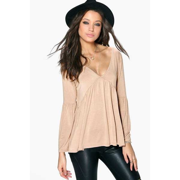 BOOHOO Tall Erika Long Sleeve Smock Top - Day tops are a staple separate in every wardrobeMake your...