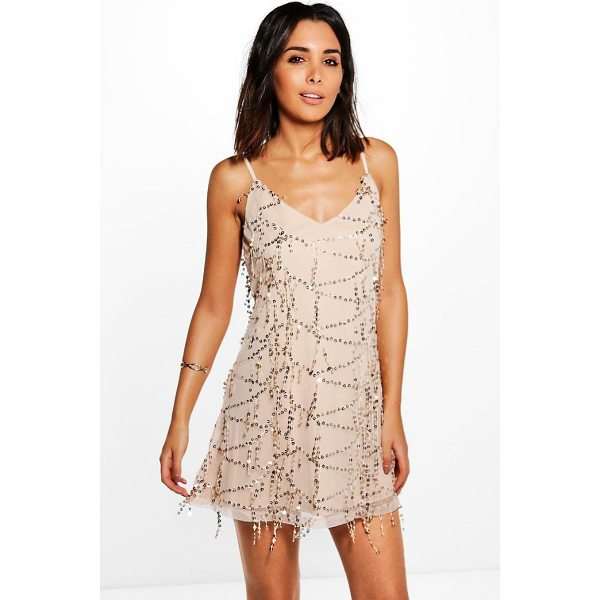 BOOHOO Taylor Strappy Sequin Swing Dress - Dresses are the most-wanted wardrobe item for day-to-night...