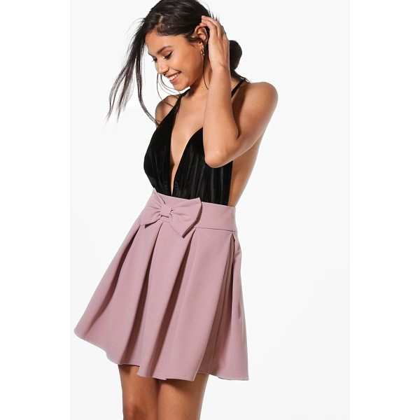 BOOHOO Theresa Bow Front Full Skater Skirt - Skirts are the statement separate in every wardrobe This...