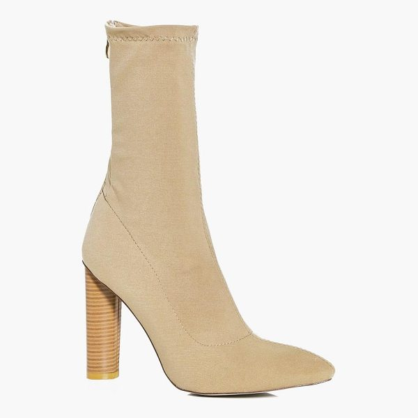 BOOHOO Tia Cylinder Heel Pointed Sock Boot - We'll make sure your shoes keep you one stylish step ahead...