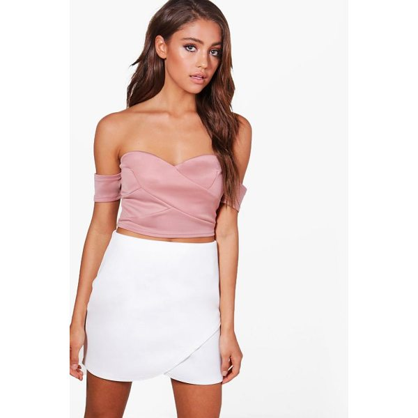 BOOHOO Tia Off The Shoulder Crop Top - Steal the style top spot in a statement separate from the...
