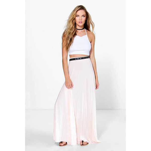BOOHOO Tia Pleated Slinky Maxi Skirt - Party with your pins out in a statement evening skirtSteal...