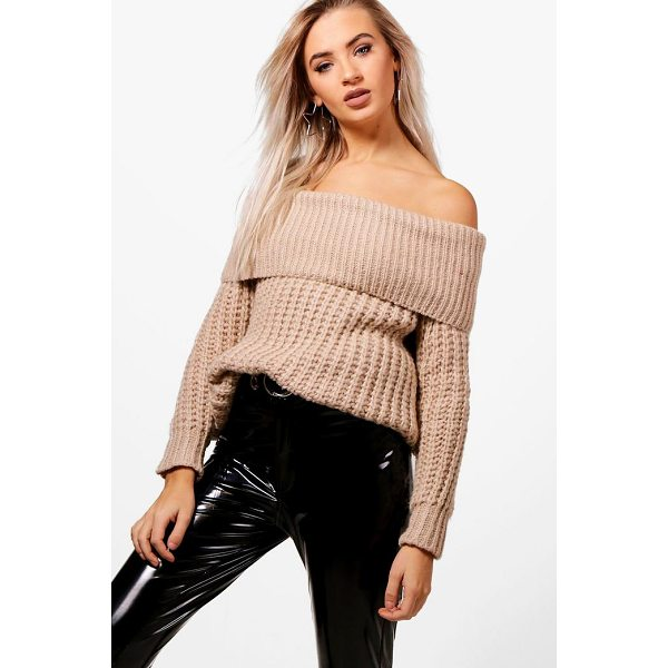 BOOHOO Tiffanie Soft Knit Marl Bardot Jumper - Nail new season knitwear in the jumpers and cardigans that...