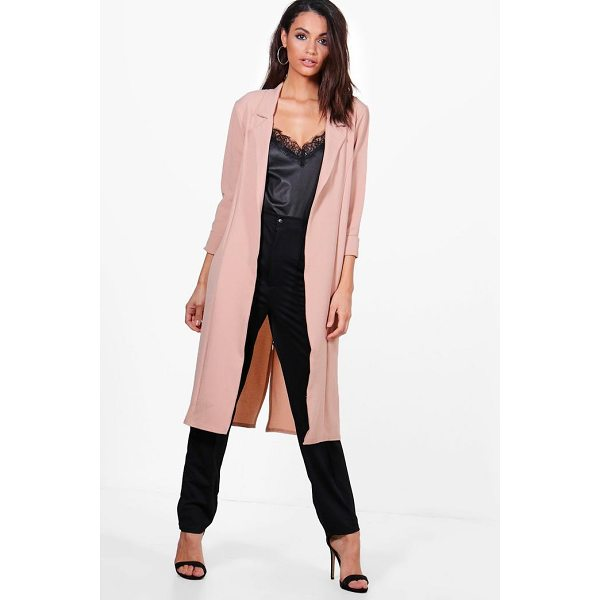 BOOHOO Tiffany Woven Tailored Lapel Duster - Wrap up in the latest coats and jackets and get out-there...