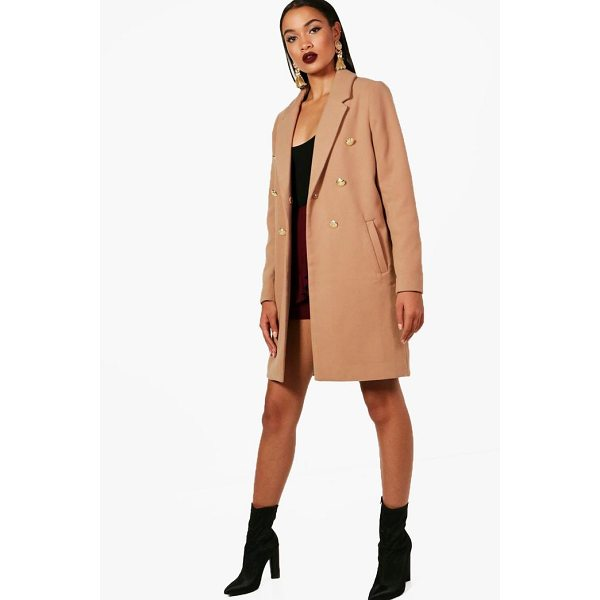 BOOHOO Una Double Breasted Military Coat - Wrap up in the latest coats and jackets and get out-there...