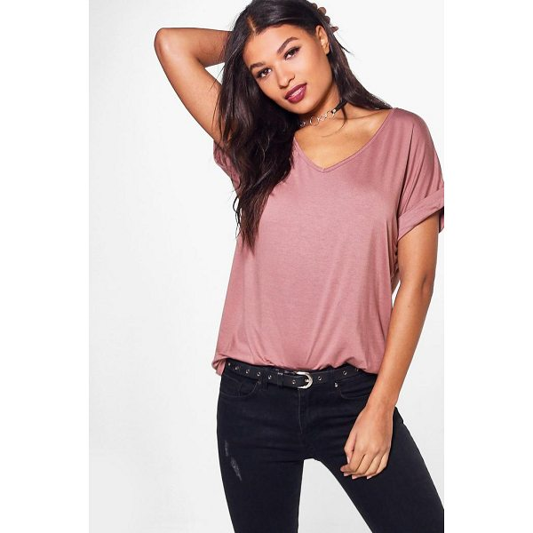 BOOHOO Unity Oversized Boyfriend V Neck Tee - Steal the style top spot in a statement separate from the...