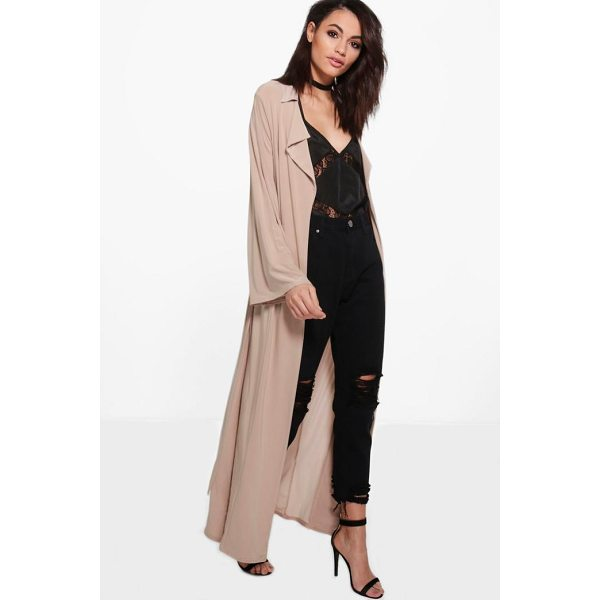 BOOHOO Vanessa Flute Sleeve Slinky Duster - Wrap up in the latest coats and jackets and get out-there...