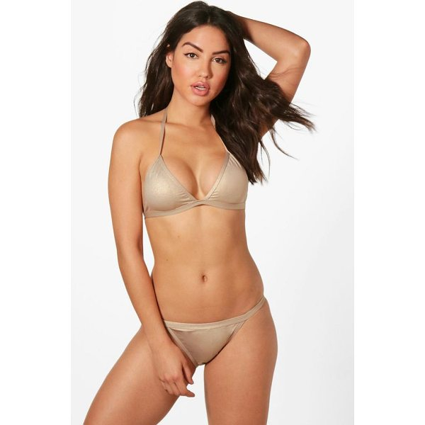 BOOHOO Venezvela Metallic Clean Triangle Bikini - Make a splash in our stylish swimwearBagging yourself the...