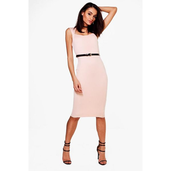 BOOHOO Victoria Tailored Belted Midi Dress - Dresses are the most-wanted wardrobe item for day-to-night...