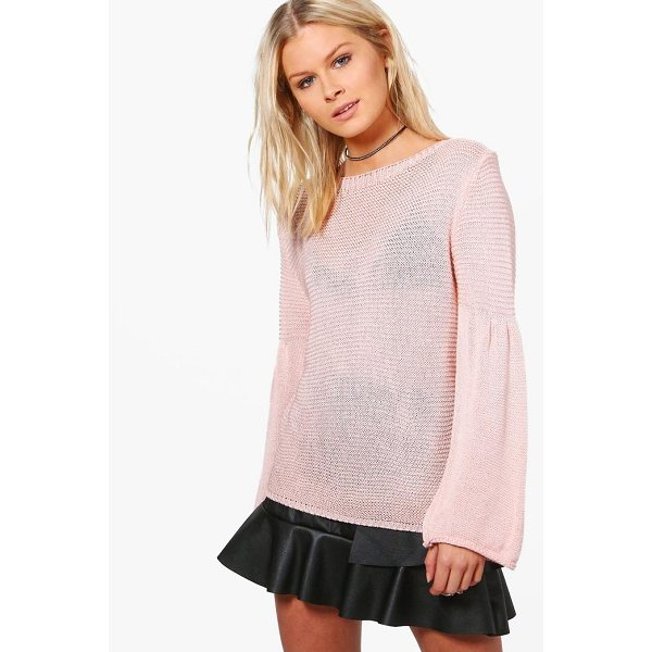 BOOHOO Violet Flare Sleeve Jumper - Nail new season knitwear in the jumpers and cardigans that...