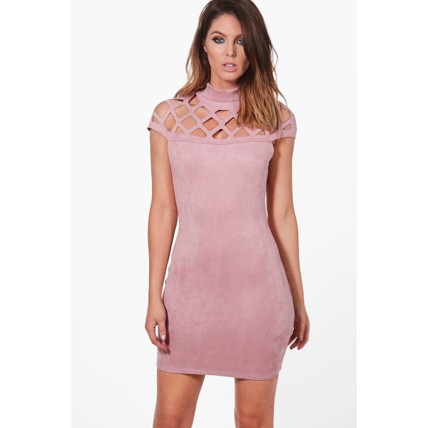 BOOHOO Wanda Bonded Suedette Bodycon Dress - Dresses are the most-wanted wardrobe item for day-to-night...