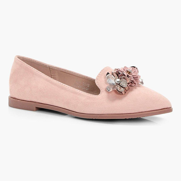 BOOHOO Wendy Embellished Slipper Ballet - We'll make sure your shoes keep you one stylish step ahead...