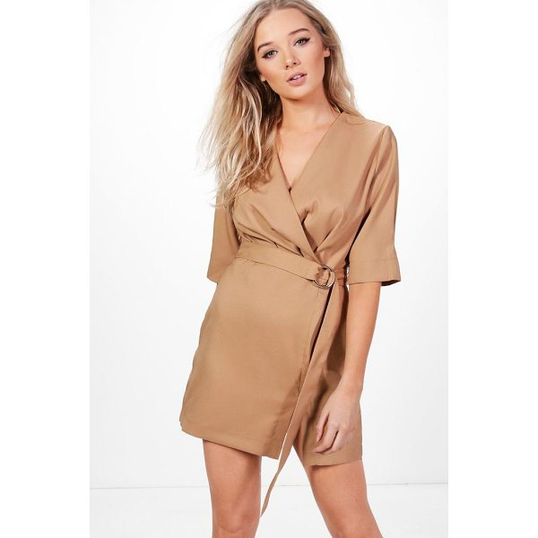 BOOHOO Willow Pleat Front Belted Dress - Dresses are the most-wanted wardrobe item for day-to-night...