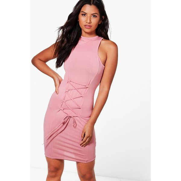 BOOHOO Willow Racer High Neck Bodycon Dress - Dresses are the most-wanted wardrobe item for day-to-night...