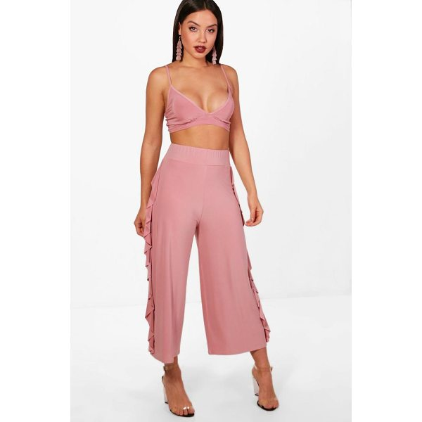 BOOHOO Willow Slinky Firll Culotte and Bralet Set - Co-ordinates are the quick way to quirky this seasonMake...