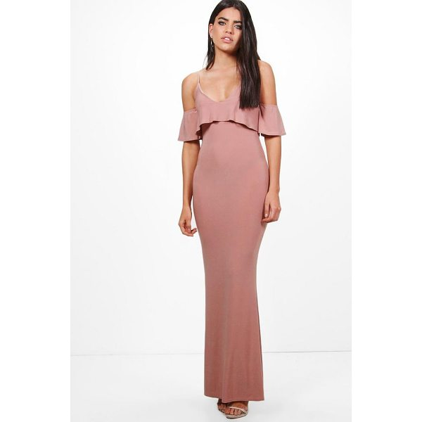 BOOHOO Zadya Slinky Double Layer Maxi Dress - Dresses are the most-wanted wardrobe item for day-to-night...