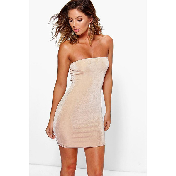 BOOHOO Zairis Textured Sliky Bandeau Bodycon Dress - Dresses are the most-wanted wardrobe item for day-to-night...
