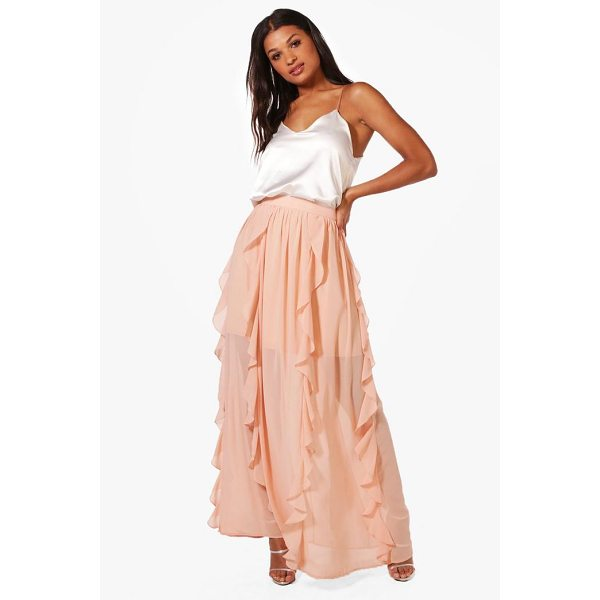 BOOHOO Zinnia Ruffle Detail Chiffon Maxi Skirt - Skirts are the statement separate in every wardrobe This...