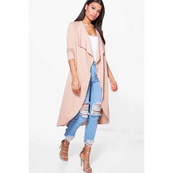 BOOHOO Zoe Waterfall Duster - Wrap up in the latest coats and jackets and get out-there...