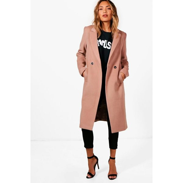 BOOHOO Zoey Maxi Double Breasted Coat - Wrap up in the latest coats and jackets and get out-there...