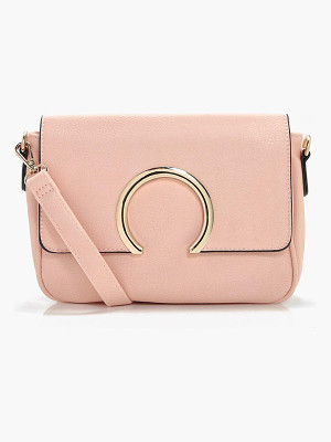 BOOHOO Abbie Metal Ring Cross Body