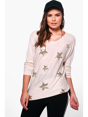 Boohoo Aimee Sequin Star Jumper