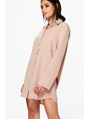 BOOHOO Akhila Choker Shirt Dress
