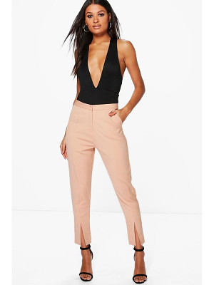 Boohoo Split Front Woven Tailored Trousers
