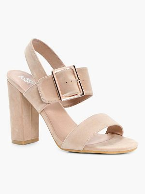 BOOHOO Alice Buckle Detail Block Heel