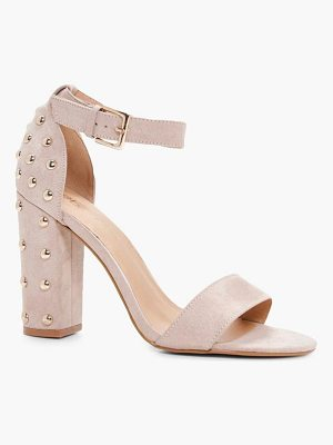 BOOHOO Alice Studded Back Two Part Block Heel