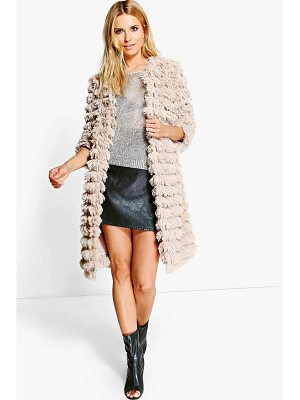 Boohoo Alisha Shaggy Faux Fur Coat