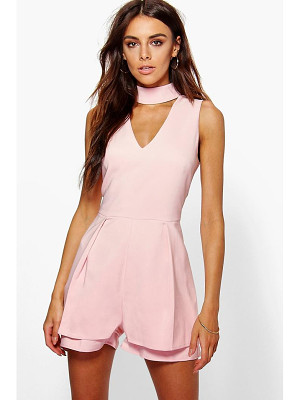 BOOHOO Alison Double Layer Choker Playsuit