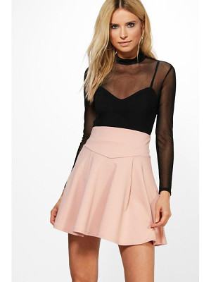 Boohoo Amala Highwaist Fit & Flare Mini Skirt
