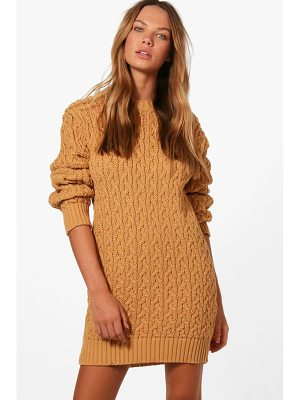 BOOHOO Anna Full Cable Knit Jumper Dress