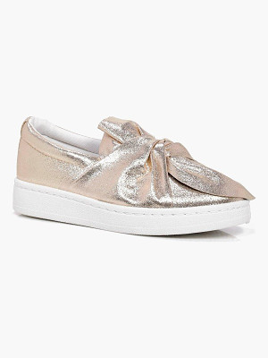 BOOHOO Anna Knot Front Skater