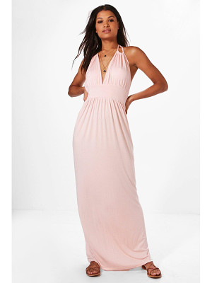 BOOHOO Annabel Halterneck Maxi Dress