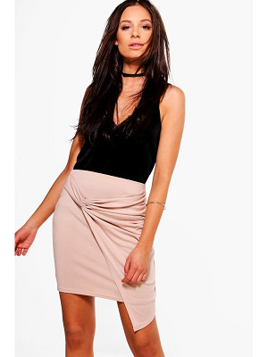 BOOHOO Aurellia Rouched Side Mini Skirt