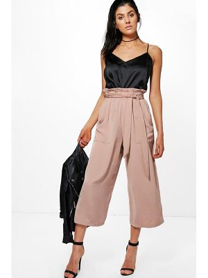 Boohoo Paperbag Waist Pocket Side Culottes