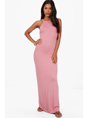 BOOHOO Bella Halterneck Bodycon Maxi Dress