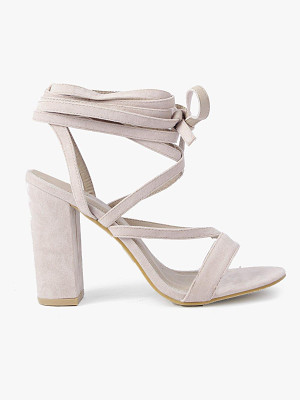Boohoo Wrap Strap Two Part Block Heels