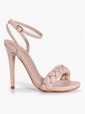 Boohoo Betsy Plait Front Two Part Sandal