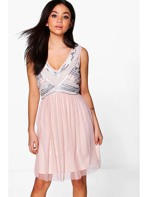 BOOHOO Boutique Aimee Beaded Top Swing Dress