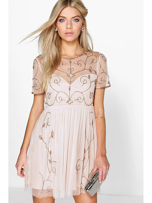 BOOHOO Boutique Ela Embellished Skater Dress