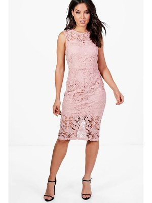 BOOHOO Boutique Eleanor Lace Sleeveless Midi Dress