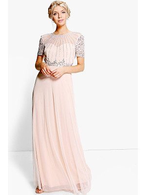 BOOHOO Boutique Emily Beaded Maxi Dress
