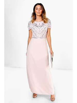 BOOHOO Boutique Francesca Embellished Top Maxi Dress