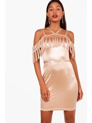 Boohoo Boutique Hefe Tassel Bodycon Dress