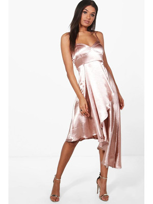 BOOHOO Boutique Hemia Asymetric Hem Wrap Dress